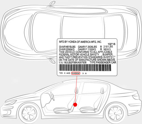 Acura Paint Code Locator