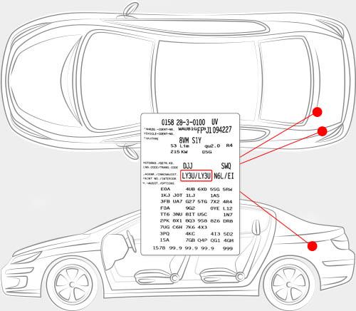 Audi Paint Code Locator