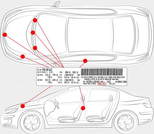 Dodge Paint Code Locator