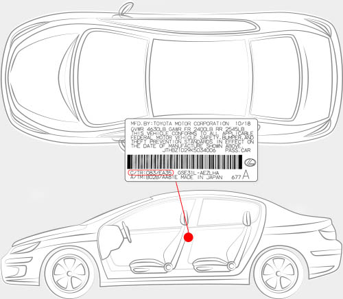 Lexus Paint Code Locator