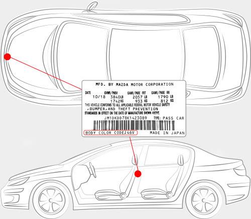 Mazda Paint Code Locator