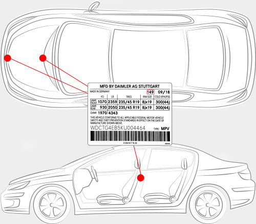Mercedes-Benz Paint Code Locator