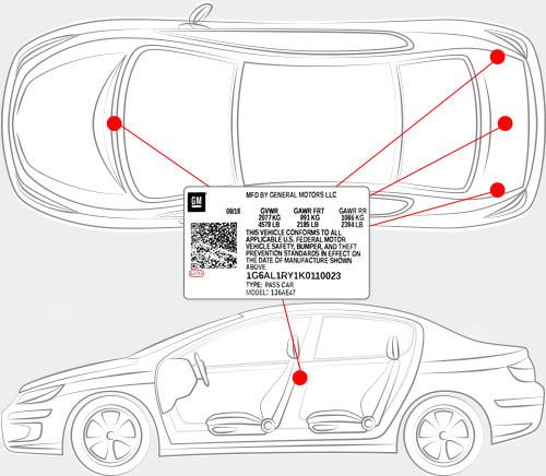 Pontiac Paint Code Locator